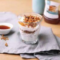 Chocolade pecan karamel trifle